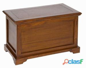 Bigbuy Baúl de madera color marrón - Colección Let's Deco