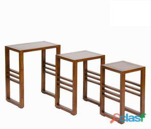Bigbuy Conjunto de 3 mesas nido - Colección Serious Line 10