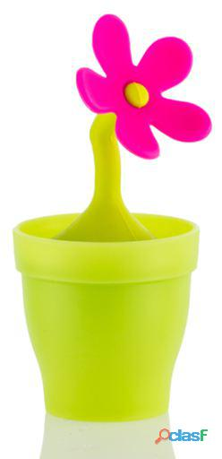 Bigbuy Infusor de té de silicona Flower Wagon Trend 39 gr