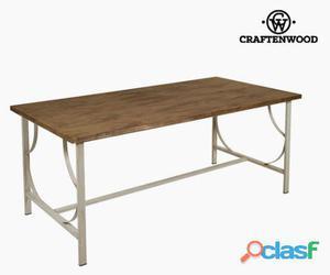 Bigbuy Mesa de comedor madera / forja beige 50 kg