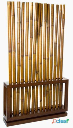 Bigbuy Separador de bambú nogal