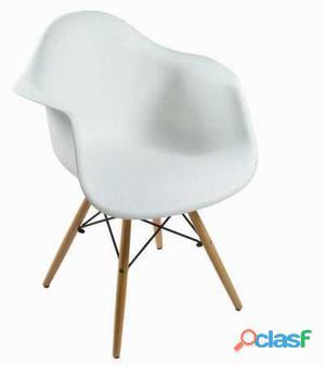 Bigbuy Silla abs blanca by Craften Wood 52 kg