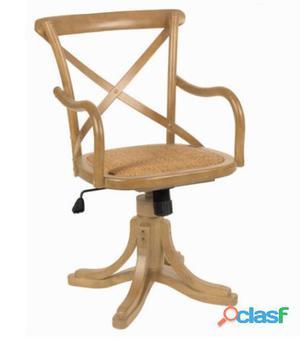 Bigbuy Silla oficina respaldo en cruz by Craften Wood 97 kg