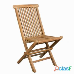Bigbuy Silla plegable de teca by Craften Wood 9 kg 9 kg