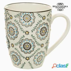 Bigbuy Taza de porcelana Kitchen's Deco 350 gr