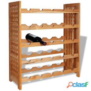 Botellero de madera maciza nogal 64x25x76 cm