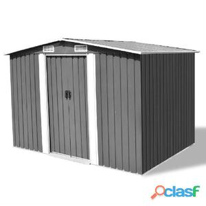 Caseta de jardín metal 257x205x178 cm gris