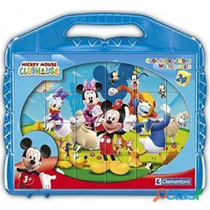 Clementoni Rompecabezas 24 Cubos Mickey Club House