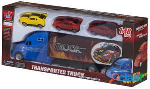 Colorbaby Camión Portacoches Y 3 Coches Fricción