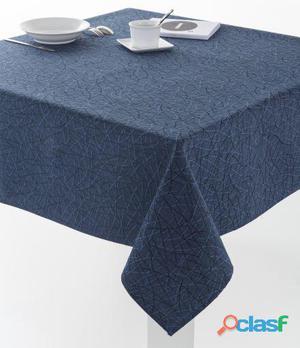 ES-TELA Mantel Jacquard Burgos color Azul Marino 140x300 cm