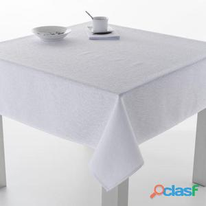 ES-TELA Mantel Jacquard Burgos color Blanco 140x300 cm