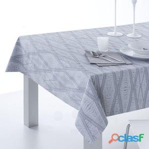 ES-TELA Mantel Jacquard + Servilletas Lloret color Gris