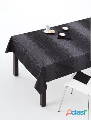 ES-TELA Mantel Jacquard + Servilletas Zafra color Negro