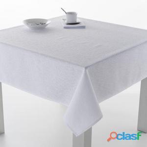 ES-TELA Mantel Resinado Burgos color Blanco 100x140 cm