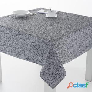 ES-TELA Mantel Resinado Burgos color Gris Claro 100x140 cm