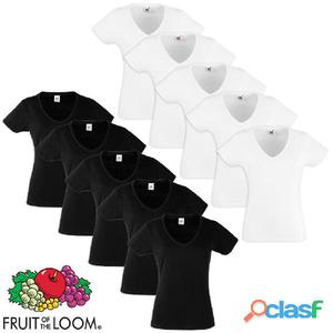 Fruit of the Loom Camiseta de mujer Value Weight