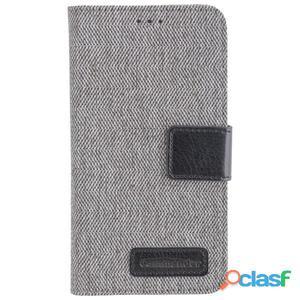 Funda tipo libro Commander gris para Samsung Galaxy J3