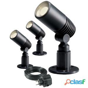 Garden Lights Foco LED Alder 3 pzas 2 W antracita 2580063