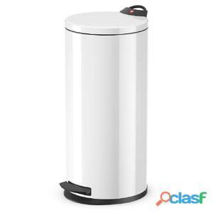 Hailo Cubo de basura con pedal T2 tamaño L 19 blanco