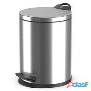 Hailo Cubo de basura con pedal T2 tamaño M 11 L acero inox