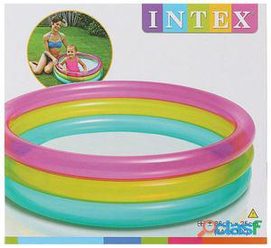 Intex Piscina 3 Tubos Arcoiris 86X25 Cm