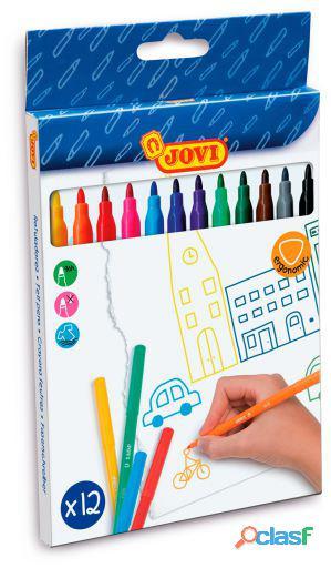 Jovi Estuche 12 Rotuladores Colores 320 gr