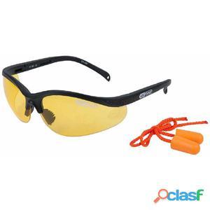KS Tools Gafas de seguridad con tapones para oídos