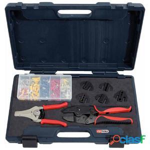KS Tools Juego de herramientas para engastar 8 piezas