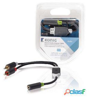 König Cable Adaptador de Audio y Video Estéreo de 3,5mm