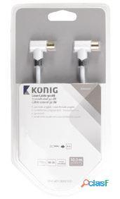 König Cable Coaxial en Ángulo de 90 Db 1 m