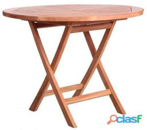 Ldk Kayla mesa redonda plegable madera de teka
