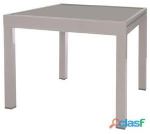 Ldk Mesa extensible thalia aluminio gris 135x90x74 cm