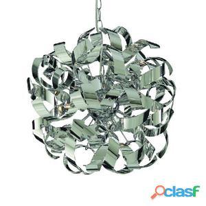 Lámpara de techo cromo Ribbon 4 x G9 132W 3000K H150cm