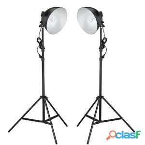Lámparas de estudio con reflector y trípodes 24 vatios