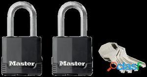 Masterlock 2 candados revestidos Excell49mm acero laminado