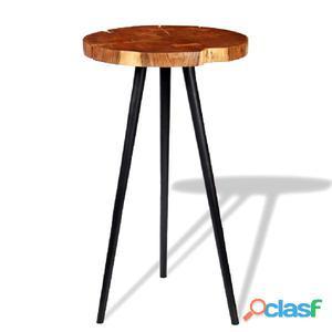 Mesa de bar tronco madera maciza acacia (55-60)x110 cm