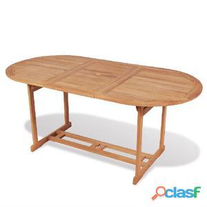 Mesa comedor teca y resina natural posot class - Mesa de teca ...