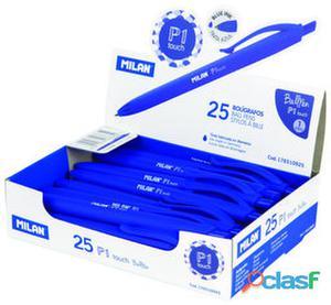 Milan Caja 25 Bolígrafo P1 Touch Azul 230 gr
