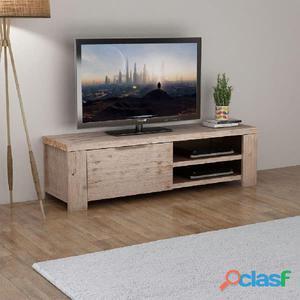 Mueble para TV madera maciza de acacia cepillada 140x38x40