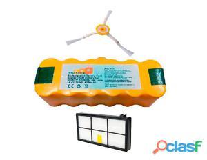 Pack Roomba serie 800, 900: Bateria 4500 mAh + Filtro Hepa +