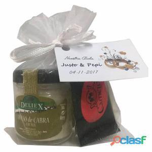 Pack queso de cabra con napolitanas de chocolate para