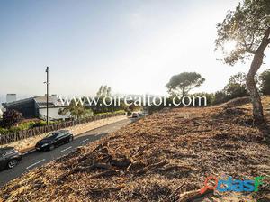 Parcela en venta de 2200m2 con vistas al mar en Sant Vicenç