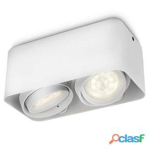 Philips myLiving Foco LED cubo Afzelia 2x4,5 W blanco