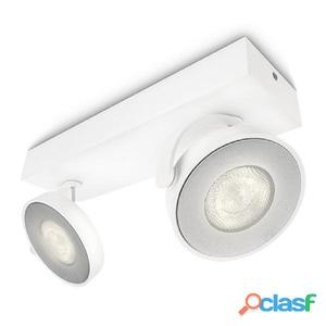 Philips myLiving Focos LED Clockwork 2x4,5 W blanco