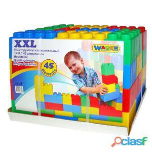 Polesie Wader Set de bloques construcción 45 piezas XXL