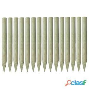 Postes puntiagudos de valla pino impregnado 100% FSC 4x100cm
