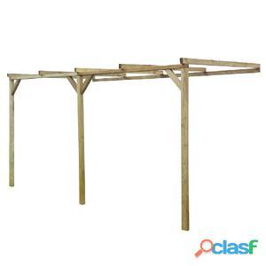 Pérgola de madera con techo inclinado, 2 x 4 2,2 m