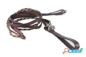 QHP Rienda/ cuerda marrón pony