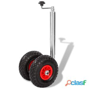 Rueda jockey de remolque con 2 neumáticos 200 kg