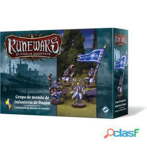 Runewars: grupo de mando de infanteria de daqan